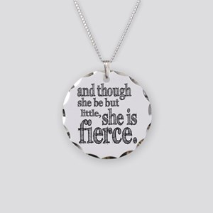 She is Fierce Shakespeare Necklace Circle Charm
