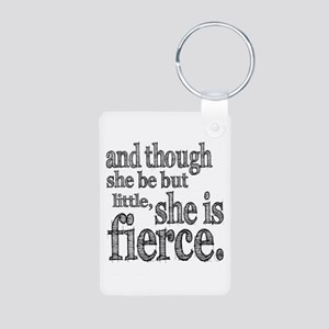 She is Fierce Shakespeare Aluminum Photo Keychain