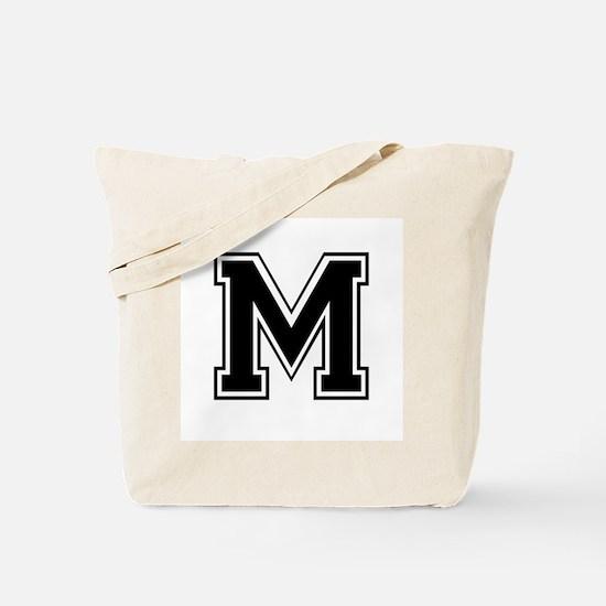Varsity Letter M Tote Bag