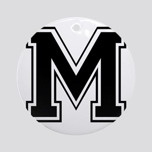 Varsity Letter M Ornament (Round)