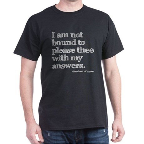 Not Bound to Please Shakespeare Dark T-Shirt