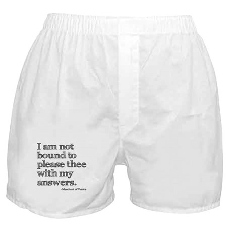 Not Bound to Please Shakespeare Boxer Shorts