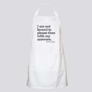 Not Bound to Please Shakespeare Apron