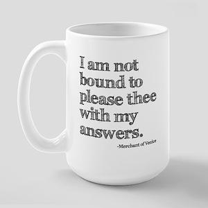 Not Bound to Please Shakespeare Large Mug