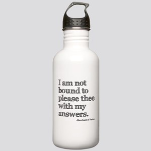 Not Bound to Please Shakespeare Stainless Water Bo
