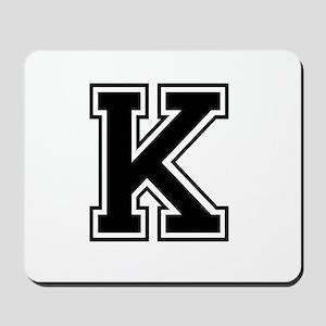 Varsity Letter K Mousepad