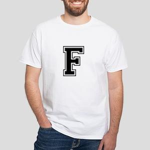 Varsity Letter F White T-Shirt