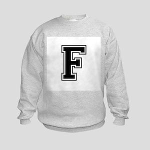 Varsity Letter F Kids Sweatshirt