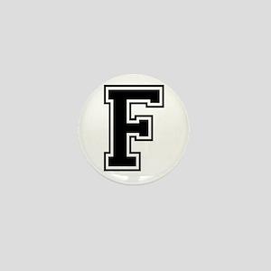 Varsity Letter F Mini Button