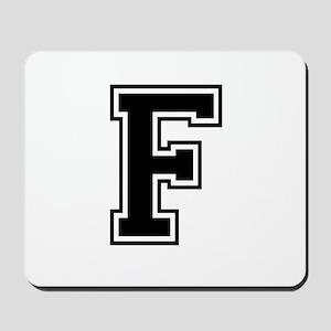 Varsity Letter F Mousepad