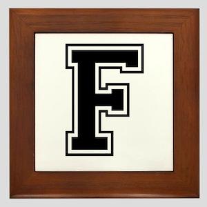 Varsity Letter F Framed Tile