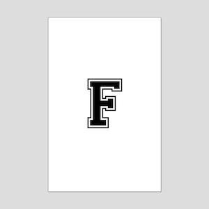 Varsity Letter F Mini Poster Print