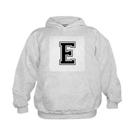 Varsity Letter E Kids Hoodie
