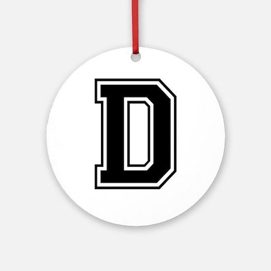 Varsity Letter D Ornament (Round)