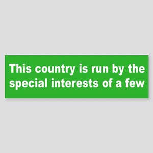special interests... Bumper Sticker