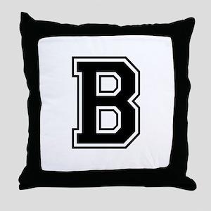 Varsity Letter B Throw Pillow