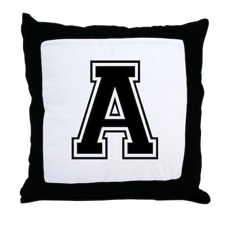 Varsity Letter A Throw Pillow