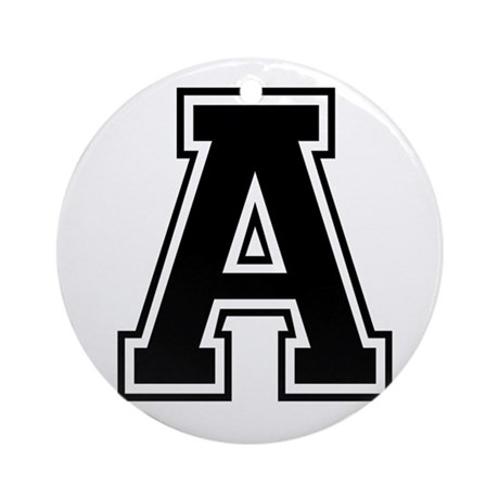 Varsity Letter A Ornament (Round)