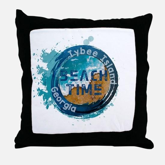Unique Tybee island Throw Pillow