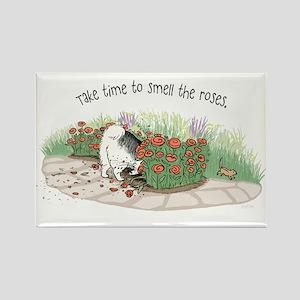 The Fuzz Butt Gardener Rectangle Magnet