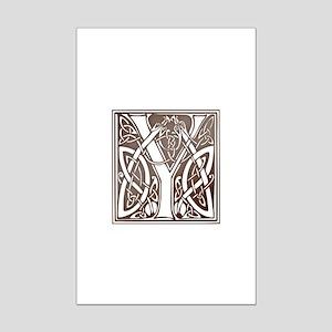 Celtic Letter Y Mini Poster Print