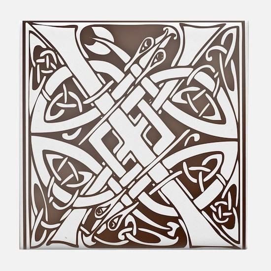 Celtic Letter X Tile Coaster