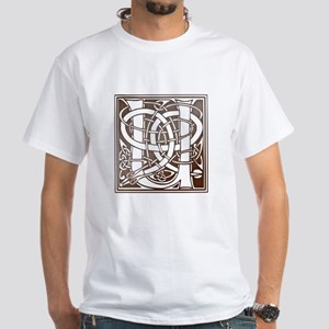 Celtic Letter U White T-Shirt