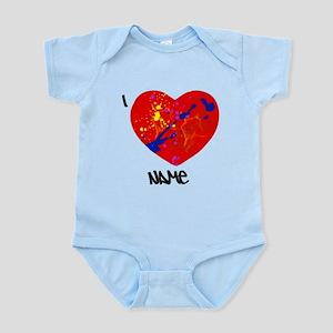 Splatter heart Infant Bodysuit