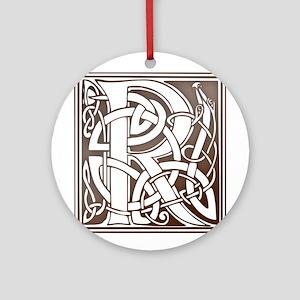 Celtic Letter R Ornament (Round)