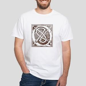 Celtic Letter Q White T-Shirt