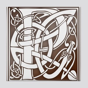 Celtic Letter P Tile Coaster