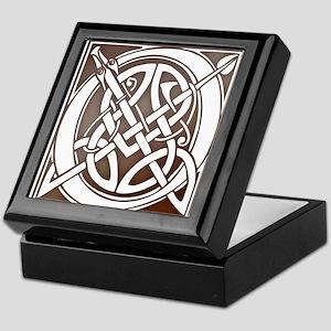 Celtic Letter O Keepsake Box