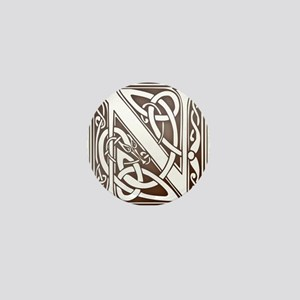 Celtic Letter N Mini Button