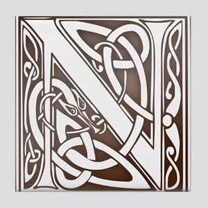 Celtic Letter N Tile Coaster
