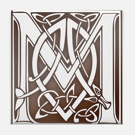 Celtic Letter M Tile Coaster