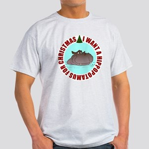 Hippo for Christmas Light T-Shirt
