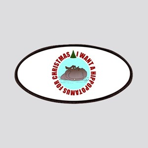 Hippo for Christmas Patches