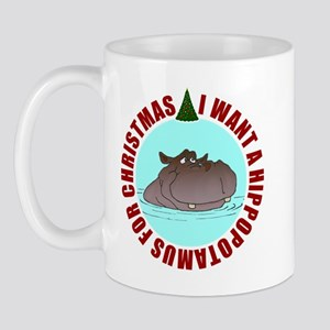 Hippo for Christmas Mug