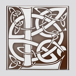 Celtic Letter L Tile Coaster