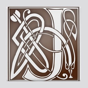 Celtic Letter J Tile Coaster