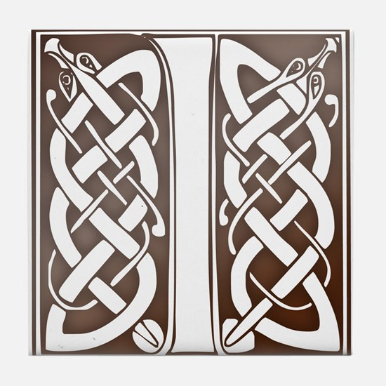 Celtic Letter I Tile Coaster