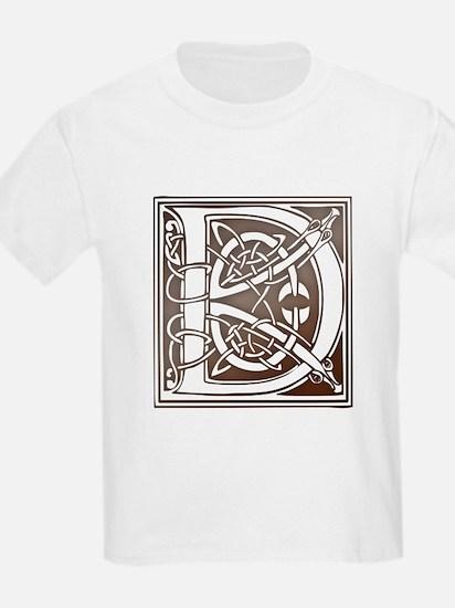 Celtic Letter D Kids T-Shirt