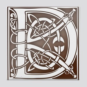 Celtic Letter D Tile Coaster