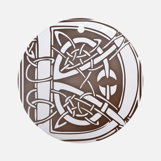 Celtic Letter D Ornament (Round)