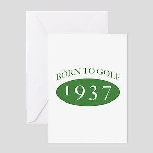 1937 Born To Golf Greeting Card