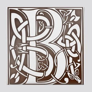Celtic Letter B Tile Coaster