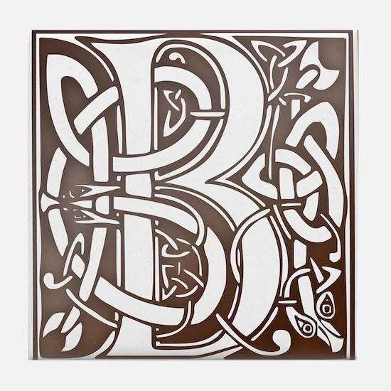 Celtic Letter B Tile Coaster