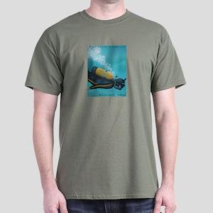 Vintage Scuba Diver Dark T-Shirt