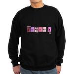 Geek Happy Valentine's Day Sweatshirt (dark)