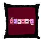 Geek Happy Valentine's Day Throw Pillow